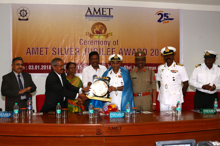 Ceremony of AMET Silver Jubilee Award 2017 at Shri Janakiraman Auditorium, on 03 Jan 2018