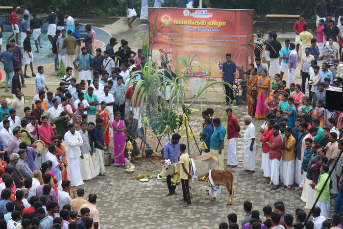 Pongal Celebrations held at University Parade ground, on 11 Jan 2018