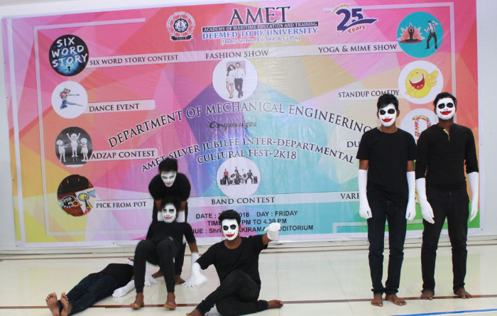 Cultural Fest 2K18 organized by Dept. of Mechanical Engineering held at Shri Janakiraman Auditorium, on 23 Feb 2018