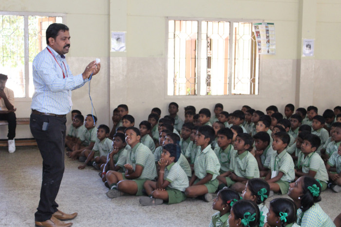 Extension Activity on Safety Aspects in Household Electrical Appliances organized  by Dept. of Electrical and Electronics Engineering at Mount Carmel Nursery and Primary School - Kovalam, on 26 Feb 2018