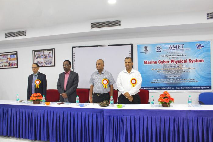 Research & Development Division organized two day National Workshop on Marine Cyber Physical System with sponsor of Interdisciplonary Cyber Physical System Division, Department of Science & Technology (DST), New Delhi held at DNV Hall 1, on 22 - 23 Apr 2019