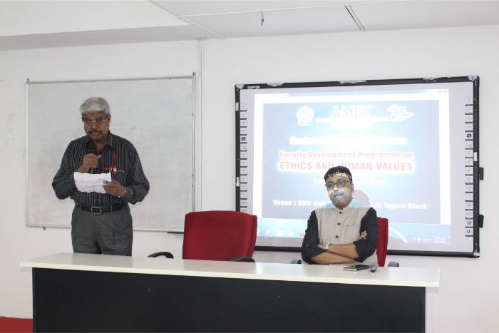 Centre for Human Resource organized Faculty Development Programme on Ethics and Human Values at DNV Hall II, on 24 Apr 2019