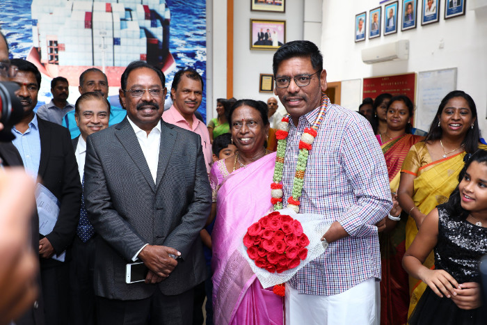 Felicitation to Dr. Rajesh Ramachandran, Pro-Chancellor for the award of Doctor of Education (Honoris Causa) by the Commonwealth University(UK), on 22 Sep 2018