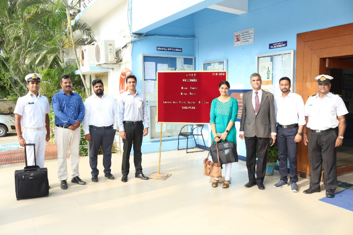 M/s. Chevron Asia Pacific Shipping Pvt. Ltd., Singapore visited to recruit our cadets, on 13 Sep 2018