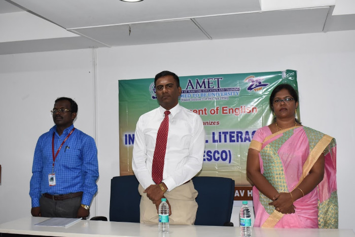 Dept. of English organised International Literacy Day (UNESCO) held at AV Hall, Library, on 27 Sep 2018