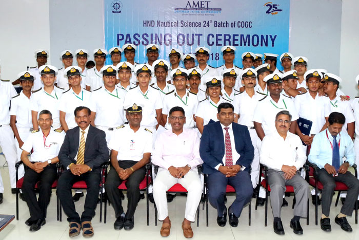 HND Nautical Science 24th Batch of COGC Passing Out Ceremony held at Shri Janakiraman Auditorium, on 09 Jul 2018
