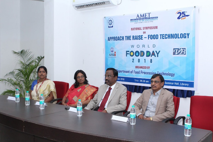Dept. of Food Processing Technology organized World Food Day-2018 celebration with a National symposium on Approach the Raise - Food Technology held at Seminar Hall, Library on 16 Oct 2018