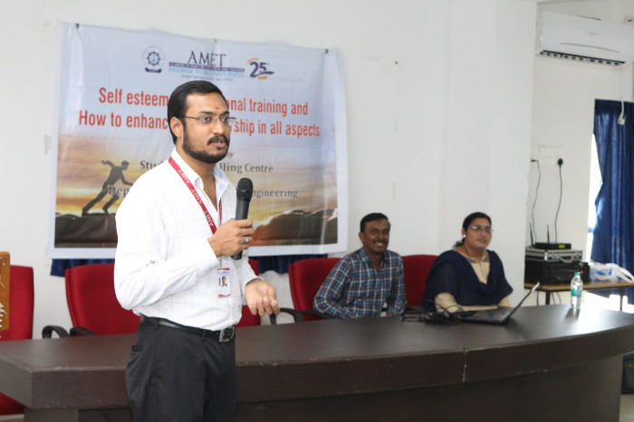 AMET Student Counselling Centre and Dept. of Petroleum Engineering organized self  