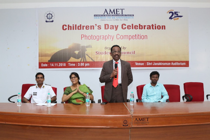 AMET Students Council organized Photography Competition in the Children's Day Celebration function, on 14 Nov 2018