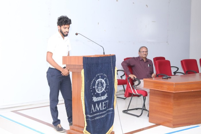 AMET SAE Collegiate Club, Department of Mechanical Engineering organized one day Seminar on 'Recent Trends in Automotive Technology' held at Shri Janakiraman Auditorium on 23 Jan 2019