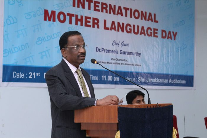 International Mother Language Day celebrated at Shri Janakiraman Auditorium, on 21 Feb 2019