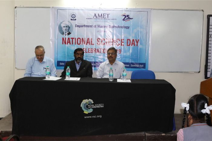 Department of Marine Biotechnology organized National Science Day Celebration 2019 at Library Seminar Hall, on 28 Feb 2019