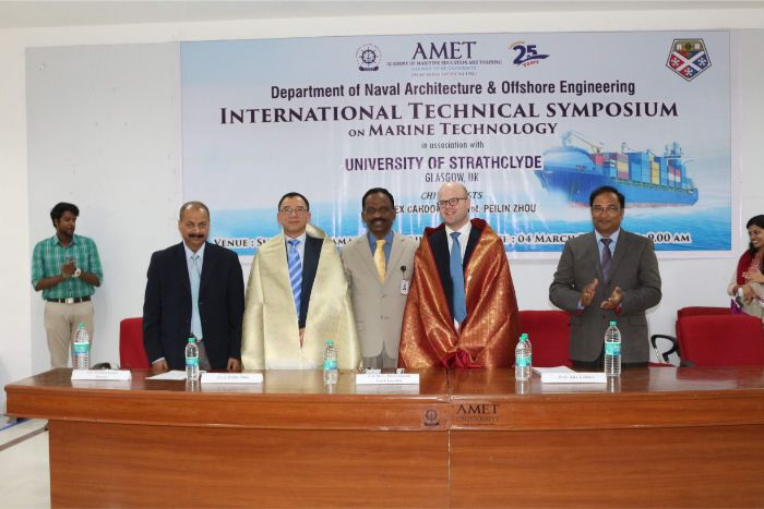 Department of Naval Architecture and Offshore Engineering organized International Technical Symposium on Marine Technology in association with University of Strathclyde, Glasgow, UK<br> held at Shri Janakiraman Auditorium, on 04 Mar 2019