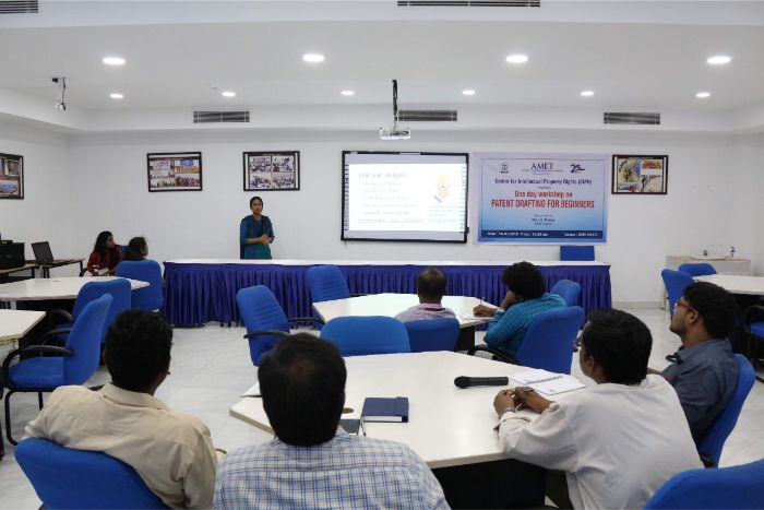 Centre for Intellectual Property Rights (CIPR) organized one day workshop on Patent Drafting for Beginners held at DNV Hall I, on 08 Mar 2019