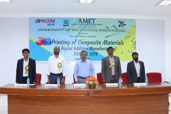 Department of Mechanical Engineering organized one day National Seminar on 3D Printing of Composite Materials (A Digital Additive Manufacturing) PRICOM 2019  held at Shri Janakiraman Auditorium, on 20 Mar 2019