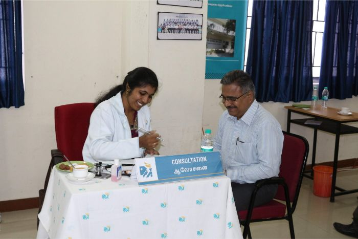 Staff Welfare Programme Free Medical Camp in association with Apollo Hospital, Chennai held at F6 Hall, on 22 Mar 2019