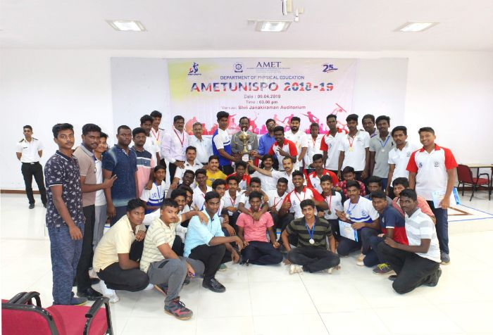 Department of Physical Education organized AMETUNISPO 2018-19 at Shri Janakiraman Auditorium, on 09 Apr 2019