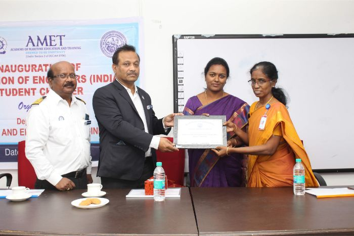 Dept. of Electrical and Electronics Engineering organized inauguration of Institution of Engineers (INDIA) Student Chapter held at DNV Hall II, on 31 Oct 2019