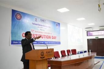 National Service Scheme (NSS) units of AMET University organizes 70th Anniversary Celebration of Constitution Day at Shri Janakiraman Auditorium, on 26 Nov 2019