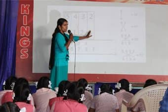 Department of Mathematics organized an extension activity on Vedic Mathematics and Numerical Reasoning in association with ICICI Bank, Besent Nagar Branch<br> at VGP Philominal Matriculation High School, Injambakkam, Chennai, on 05 Dec 2019
