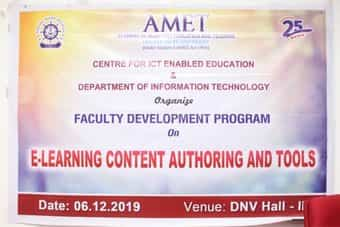 Centre for ICT Enabled Education and Department of Information Technology organized Faculty Development Programme on E-Learning Content Authoring and Tools, on 06 Dec 2019
