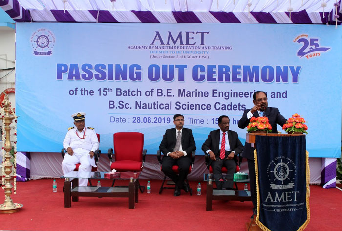 Passing Out Ceremony of the 15th Batch of B.Sc. Nautical Science and B.E. Marine Engineering held on 28 Aug 2019