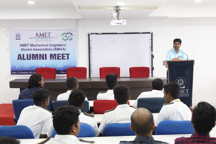 AMET Mechanical Engineer's Alumni Association (AMAA) Alumni Meet held at DNV hall II, on 11 Dec 2019