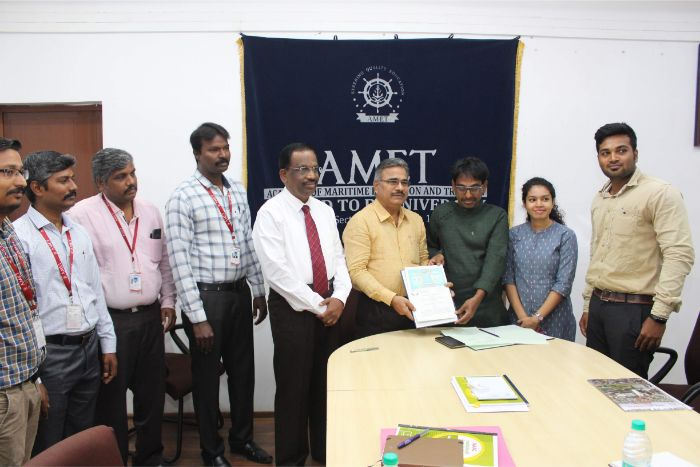 AMET University signed a Memorandum of Understanding with News 7 Television channel, on 17 Dec 2019