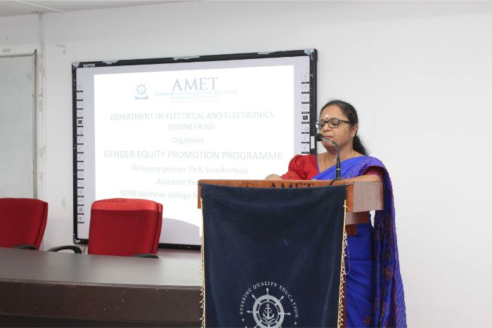 Gender Equity Promotion Programme, organized by Dept. of EEE, on 08 Jan 2020