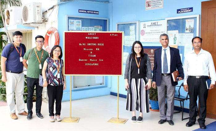 Ms. NG Shuting Dixie, Manager HR and Team, M/s. Sembcorp Marine Ltd., Singapore visited to our campus on 04 Sep 2019