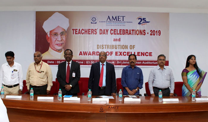 Teachers' Day Celebrations 2019 and Distribution of Awards of Excellence held at Shri Janakiraman auditorium on 05 Sep 2019