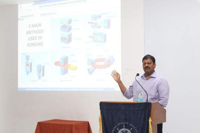 "One Day Seminar on ""Advanced Manufacturing Technologies in Automotive Industries"" by organized (SAE) Collegiate Club of Mechanical Engineering, on 25 Jan 2020"