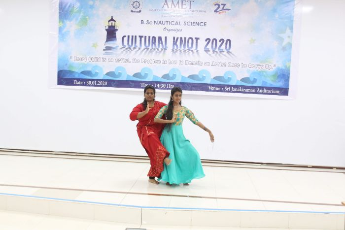 Cultural Knot 2020, organized by B.Sc Nautical Science, on 30 Jan 2020