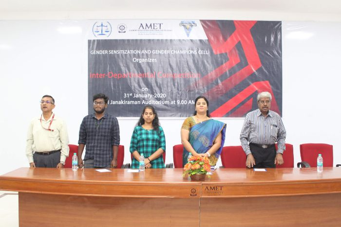 Gender Sensitization and Gender Champions Cell, held at Shri Janakiraman Auditorium, on 31 Jan 2020