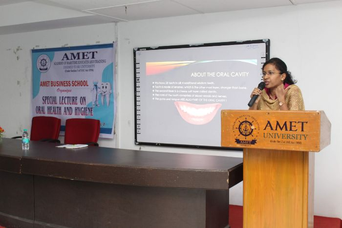 Special Lecture on Oral Health and Hygiene, organized by AMET Business School, on 03 Feb 2020