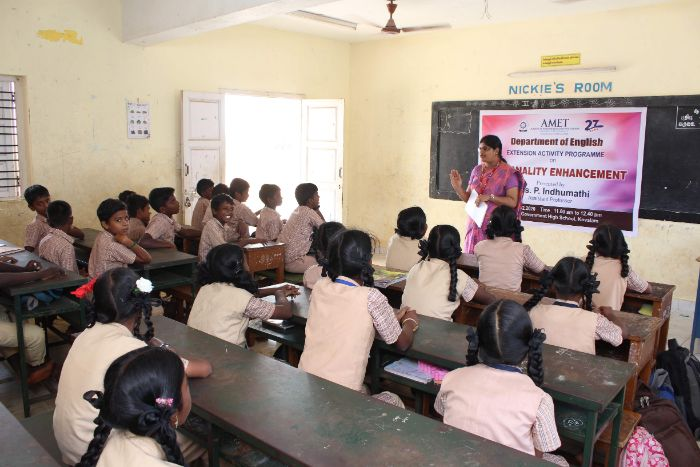 Extension Activity Programme on How to Train Your Memory held at Government High School Kovalam, organized by Dept of English, on 11 Feb 2020