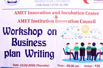 Workshop on Business Plan Writing, on 13 Feb 2020