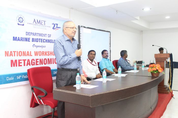 National Workshop on Metagenomics, organized by Dept of Biotechnology, on 14 Feb 2020