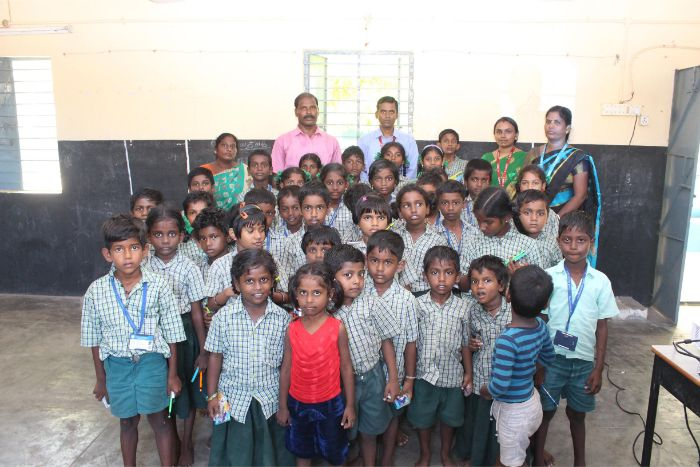 Dept. of Chemistry organized an extension activity at Kanathur Rural Primary School, on 10 Oct 2019