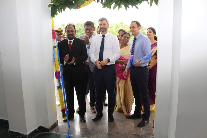Kaveri Hostel Inauguration and Interaction with Maersk Selected Cadets and Faculty by Mr. Niels H.Bruus, Head of Marine - HR, Fleet Management and Technology, A.P. Moller - Maersk A/S, Denmark held at Shri Janakiraman Auditorium, on 25 Oct 2019